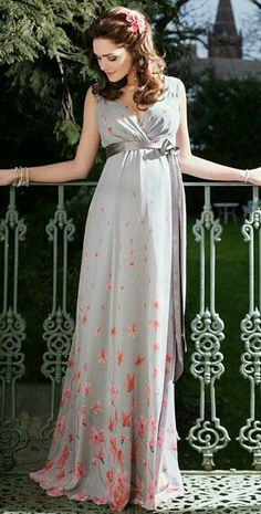 1f1f14261024 Jasmine Maternity Gown Long (Peach Blossom) - Maternity Wedding Dresses