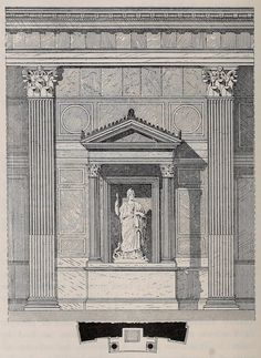 Section of the interior order of the Pantheon, Rome