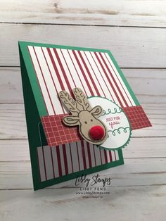 12 Days of Gift Card Holders - Day 1 - Libby Fens, Stampin' Up! 3d Christmas, Homemade Christmas Cards, Christmas Cards To Make, Xmas Cards, Homemade Cards, Gift Cards Money, Get Gift Cards, Gift Card Basket, Gift Card Bouquet
