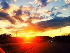 A great sun set I saw driving home :)