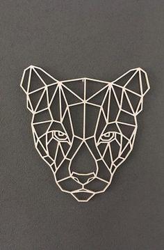Wooden geometric animals for wall puma геометрия термопресс, геометрия y ги Geometric Shapes Art, Geometric Drawing, Geometric Animal, Metal Art, Wood Art, Animal Drawings, Art Drawings, Arte Linear, Animal Art Projects