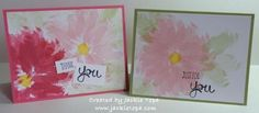 Watercolor Flowers created by Jackie Topa with the new Stampin' Up set 'Work of Art'