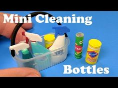 tutorial: miniature cleaning bottles