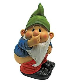 Love this Stinky the Garden Gnome Statue on #zulily! #zulilyfinds