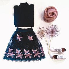 Luv the shop! and Love the outfit Skater Skirt, Tulle, Knitting, Floral, Skirts, Outfits, Shopping, Fashion, Moda