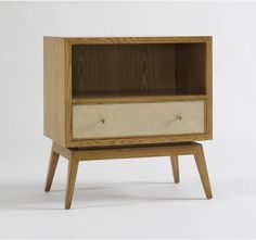 KARL SIDE TABLE - FRENCH OAK/PARCHMENT