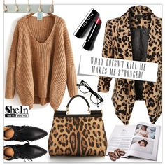 SheIn by din-fashion on Polyvore featuring LE3NO, Dolce&Gabbana, Bobbi Brown Cosmetics and Belle Maison