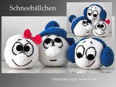 Crochet Pattern, DIY - Snowballs - Ebook, PDF Source by annemariewanzen Crochet Tree, Crochet Angels, Crochet Dolls, Knit Crochet, Double Crochet, Crochet Patterns For Beginners, Easy Crochet Patterns, Amigurumi Patterns, Christmas Crochet Patterns