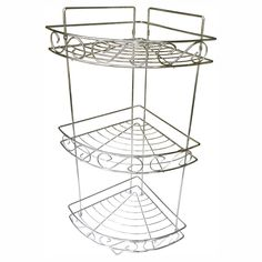 Elegant Home Fashions 3 Tier Decorative Scroll Corner Shower Caddy