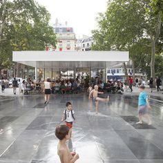 "French company TVK completed the rehabilitation of ""Place de la Republique"" in Paris.  Make it public. Maki it dense. Make it full of life."