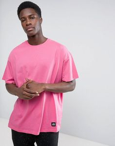 CHEAP MONDAY SQUAD T-SHIRT LOGO PRINT - PINK. #cheapmonday #cloth #