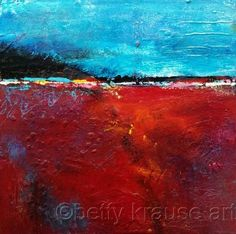 No. 2 by Betty Krause Art Abstract; landscape; mixed media; acrylics; oil pastels. {SOLD}