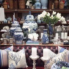 Vasos de Porcelana Blue & White