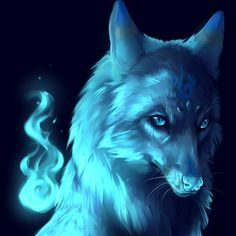 Beautiful I love the color blue I love wolves put them together it makes something stunning!!!