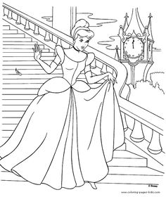 Cinderella color page, disney coloring pages, color plate, coloring sheet,printable coloring picture