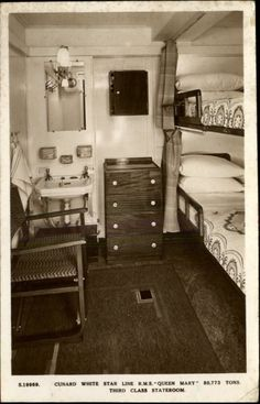 First class swimming pool entrance rms queen mary art for First class cruise ship cabins