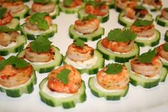 Seared chilli prawn canape