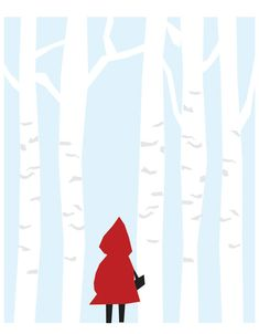 Unique Art Print for Kids Room Little Red by ParadeAndCompany                                                                                                                                                                                 More