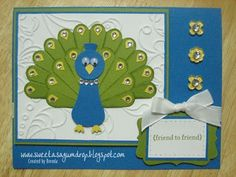 """I used the scallop circle die & punch, owl punch, & itty bitty punch pack""  - Sweet as a Gum Drop on blogspot  (SU products)"