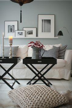 SALON gris blanco negro - LIVING ROOM grey white black