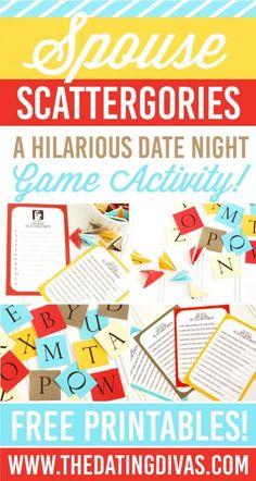Spouse Scattergories Game Night Date Idea                                                                                                                                                                                 More