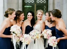 Navy Bridesmaids Dresses | photography by http://www.katemurphyphotography.com/