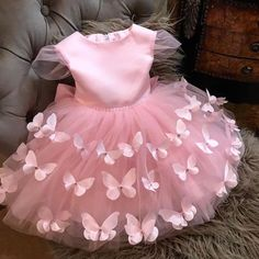 Baby Girl Frocks, Baby Girl Party Dresses, Birthday Girl Dress, Frocks For Girls, Birthday Dresses, Little Girl Dresses, Flower Girl Dresses, Girls Princess Dresses, Pink Dresses For Kids