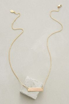 Thin Hammered Bar Necklace - anthropologie.com