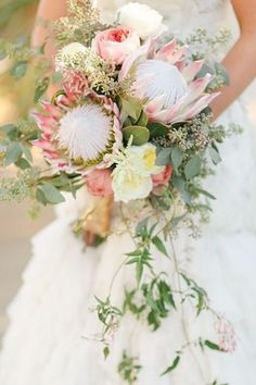 Garden Flowers Wedding Ideas Bouquet 22 Tropical King Protea Wedding Bouquets Ideas See More: Protea Wedding, Floral Wedding, Bouquet Wedding, Chic Wedding, Wedding Reception, Wedding Notes, Wedding Koozies, Wedding Blue, Wedding Ceremonies
