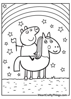 Girls Coloring Pages, Peppa Pig Coloring Pages, Colouring Pages, Printable Coloring Pages, Coloring Sheets, Coloring Books, Coloring Stuff, Coloring For Kids, Peppa Pig Drawing