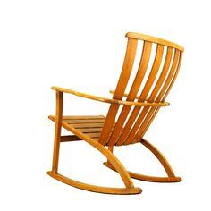 Sculptural Danish Modern Rocking Chair