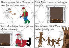 Teacher's Pet - Stick Man Story Sequencing Cards (plain) - Premium Printable Classroom Activities and Games - EYFS, KS1, KS2, julia, donalds...