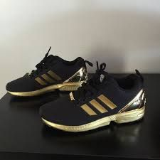 Image result for zx flux metallic gold