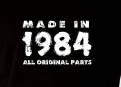 Made In 1984 Vintage 30th Birthday Gift Present by DesignDepot123, $13.90
