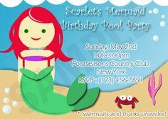 Mermaid birthday invite