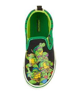 Teenage Mutant Ninja Turtles Toddler 7-12 Boy's Canvas Slip-on Sneakers (13)…