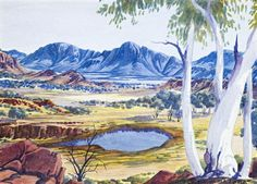 Buy online, view images and see past prices for ALBERT NAMATJIRA 1902 - ARRERNTE COUNTRY, watercolour on paper. Invaluable is the world's largest marketplace for art, antiques, and collectibles. Indigenous Australian Art, Indigenous Art, Australian Artists, Aboriginal Painting, Aboriginal Artists, Australian Aboriginals, Aboriginal History, Australian Painting, Art For Art Sake