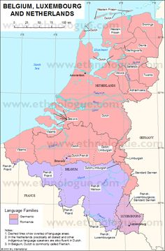 Ethnologue-Linguistic Map of the Netherlands