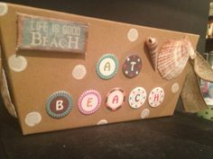 At Beach It's summertime and this fun box is perfect by Bedotted, $19.95