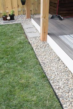 My Tiny Backyard: More Rock Landscaping and Plants (ORC Week - DIY rock landscaping around platform deck - Landscaping Around Deck, Landscaping With Rocks, Backyard Landscaping, Landscaping Ideas, Decorative Rock Landscaping, Landscaping Edging, Florida Landscaping, Farmhouse Landscaping, Landscaping Software