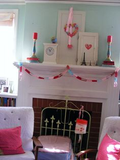 fireplace @Diane Rodriguez  but not all the pinky decorations, just ideas for items