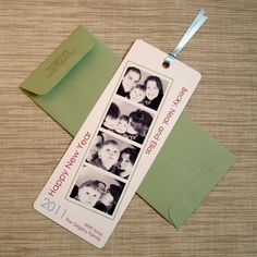Happy New Year Card - Photo Booth Film Strip Bookmark Greetings - DIY Digital File