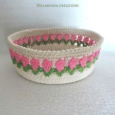 Crochet bag pattern free rope basket Ideas for 2019 Diy Crochet Basket, Crochet Bowl, Crochet Basket Pattern, Crochet Gifts, Crochet Patterns, Reverse Single Crochet, Sunburst Granny Square, Bag Pattern Free, Crochet Circles