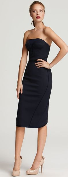 Zac Posen strapless sheath dress - I am in love with this dress. Chic Dress, Classy Dress, Boho Dress, Dress Skirt, Sheath Dress, Maxi Outfits, Boho Outfits, Trendy Dresses, Nice Dresses