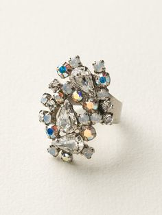 Classically Clustered Ring in White Bridal by Sorrelli Jewelry
