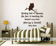 Harry Potter - Quote Wall Decal - Home Decor on Etsy $55.00 & LARGE WALL DECALS Harry Potter wall decal quote - vinyl wall art ...