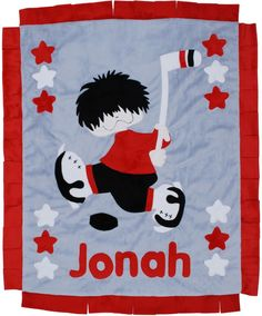 Hockey Blanket-how could a hockey fan not love this blanket for their baby!