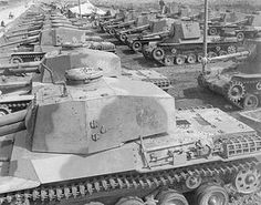 Type 3 Chi-Nu medium tanks of the IJA 4th armored division. The Chi-Nu was an improved version of the type 97 Chi-Ha, mounting a 75mm main gun. Reserved for the defense of the home islands, the Chi-Nu never saw combat.