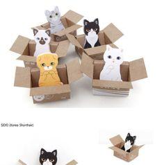 5XCUTE Cat Kawaii Kitty House Adhesive Sticky Notes Memo Pad Stationery Bookmark | eBay