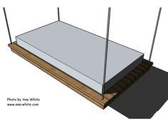 HGTV provides detailed instructions for a DIY swing bed.